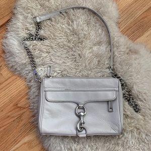 Rebecca Minkoff Gray Silver Leather Crossbody Bag